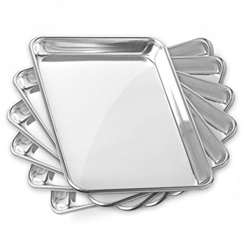 Gridmann 9 x 13 Commercial Grade Aluminium Cookie Sheet Baking Tray Jelly Roll Pan Quarter Sheet - 6 Pans (Quarter Sheet Jelly Roll Pan compare prices)