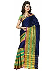 Reet Blue With Gold Cotton Saree For Women
