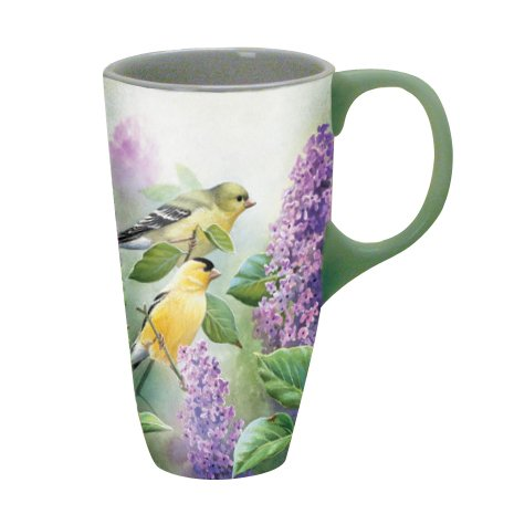 Lang 5036196 Goldfinches And Lilacs Latte Mug