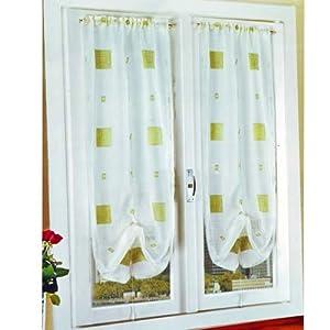 Coppia tenda per arredo salotto colore verde 60x150 for Arredo casa amazon