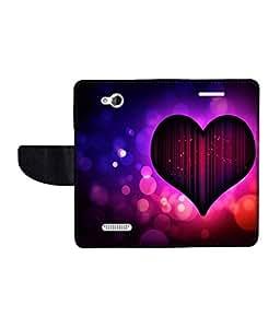 KolorEdge Printed Flip Cover For HTC Desire 616 Multicolor - (50KeMLogo09051HTC616)