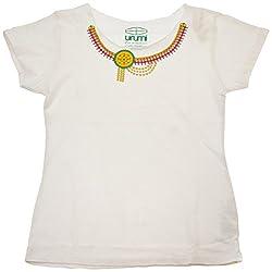Urumi Women's Regular Fit T-Shirt (White, X-Large)