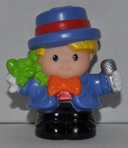 Little People Eddie Carnival Announcer (2001) - Replacement Figure - Classic Fisher Price Collectible Figures - Loose Out Of Package (OOP) - Zoo Circus Ark Pet Castle - 1