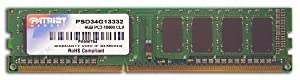 Patriot Signature 4 GB PC3-10600 (1333 MHz) DDR3 Desktop Memory PSD34G13332