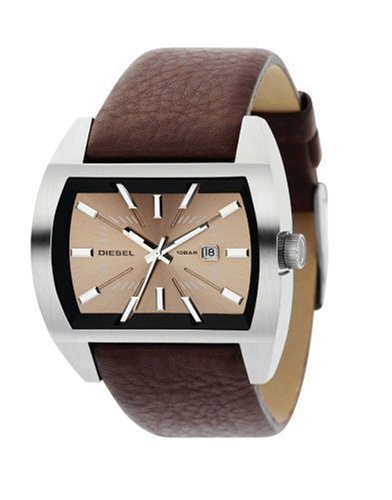 Diesel DZ1114 Gents Stainless Steel Case Brown Leather Watch