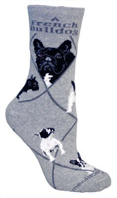 French Bulldog Socks for ladies (Size 9-11)