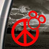 MICKEY MOUSE DISNEY Red Decal Car Truck Window Red Sticker