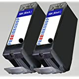 PGI5BK Chipped - 2 x Black Canon Compatible Ink Cartridges for Canon Pixma iP3300 iP3500 iP4200 IP4300 iP4500 iP5200 iP5200R iP5300 iX4000 ix5000 MP500 MP510 MP520 MP530 MP600 MP600R MP610 MP800 MP800R MP810 MP830 MP960 MP970 MX700 - PGI5 2 x PGI-5BK With Latest Chip, Ready for Useby Canon