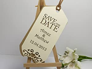 ... weddings > save the dates > come fly with me luggage tag save the date