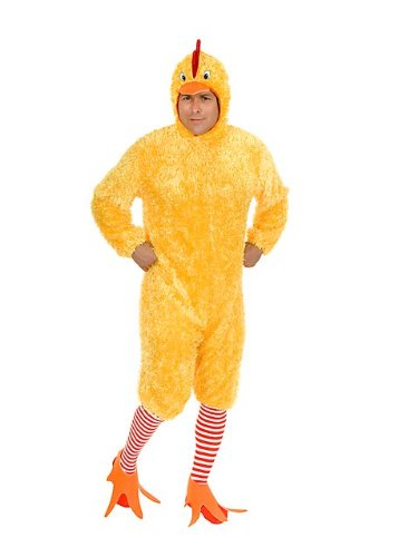 Charades Men's Adult Plus-Size Funky Chicken Costume Set