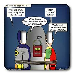 Rich Diesslins Funny General Cartoons - Lame Lines and the Classic Batman TV Show - Light Switch Covers - double toggle switch