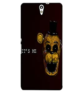 ColourCraft Funny and Scary Monkey Design Back Case Cover for SONY XPERIA C5 ULTRA DUAL