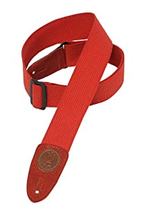 Levy's Leathers 2 Cotton Guitar Strap - Red