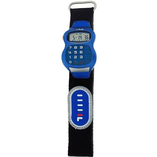 Fila Kids Blue Calculator Velcro Strapp Watch With 8 Digit Display