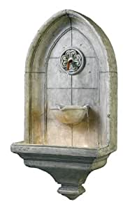 Kenroy Home #53265CT Canterbury Indoor/Outdoor Wall Fountain in Cement Finish