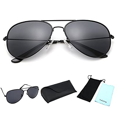 YuFalling Polarized Aviator Sunglasses for Men and Women