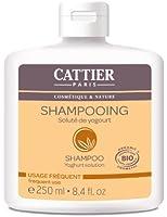 Cattier Shampooing Usage Fréquent Soluté de Yogourt 250 ml Lot de 2