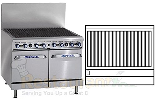 "Imperial Commercial Radiant Char-Broiler 48"" Wide 8 Burner 2 Standard Oven Propane Ir-48Br-220 front-604042"