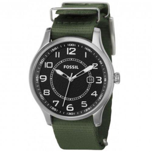 Fossil FS4511 - Reloj para hombres, correa de nailon color verde