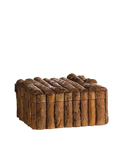 Napa Home and Garden Log Cabin Keepsake Box, Brown
