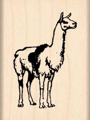 Llama Rubber Stamp - 1-1/2 inches x 2 inches