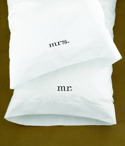 Hortense B. Hewitt Wedding Accessories Together Mr. and Mrs. Pillowcases, Set of 2