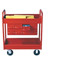 Equipto 145-8-RD Combination Truck with 2 Trays, 500lbs Capacity, 11&#034; Drawers, 30&#034; L x 16&#034; W x 36&#034; H, Textured Red