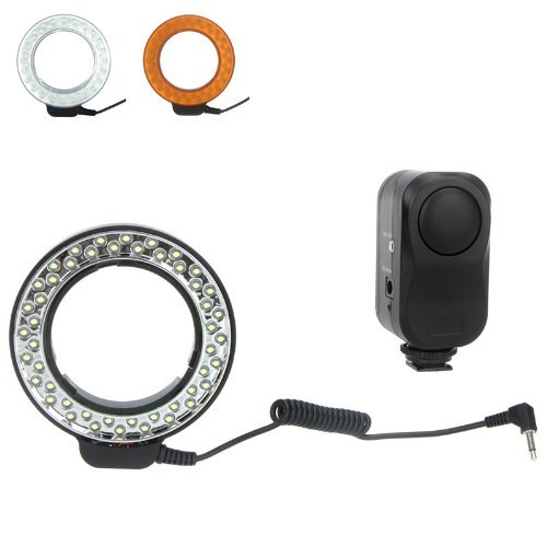 Good Market 1Pcs 48 Leds Macro Ring Flash Light With 2 Diffusers For Canon/Nikon/Pentax(Not Support Sony)