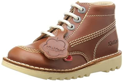 Kickers Unisex-Child Kick Hi Boots 112706 Dark Tan 1 UK, 33 EU