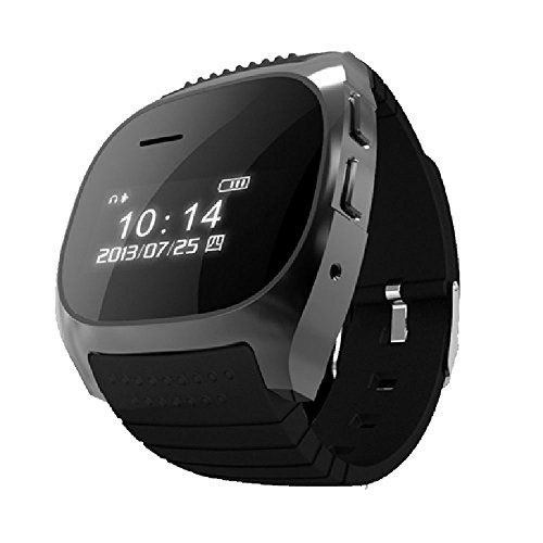 Qihang(Tm) Led Smart Cool Bracelet Bluetooth 2.0 Watch Wristwatch With Phonebook Remote Notification Blutooth Music Call Records Fuctions Anti-Lost For Android Phones Iphone (Black)