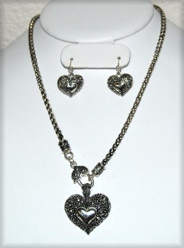 Necklace - Brighton Look Heart in Heart Designer Necklace set- s-3769L