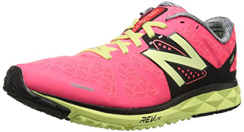 New Balance Women's W1500 Stability Running Shoe, Pink/Yellow, 9 B US