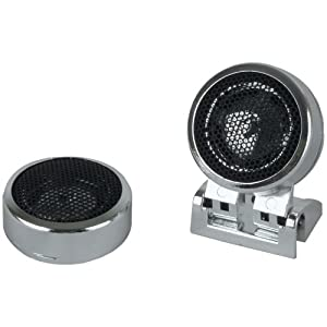 BOSS AUDIO Product-BOSS AUDIO TW20 Bullet & Dome Tweeters (Micro-Dome Chrome Tweeter)
