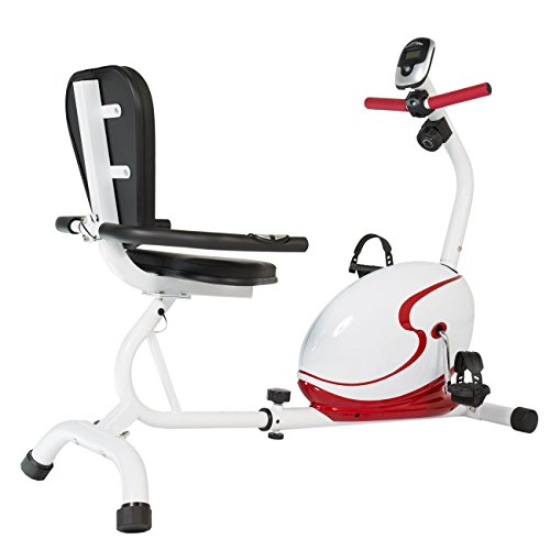 Best Choice Products Red Magnetic Recumbent Exercise Bike Health Fitness Indoor Cycling Bicycle Workout