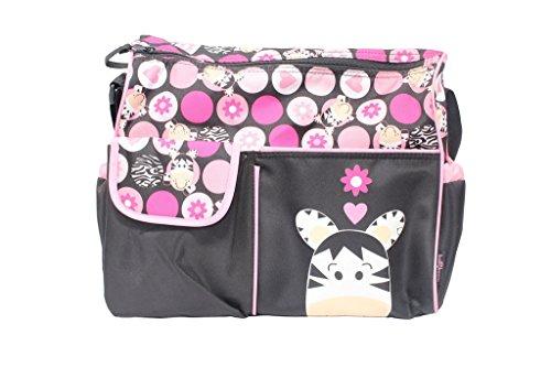 Baby Boom Pink Zebra Duffle Baby Diaper Bag