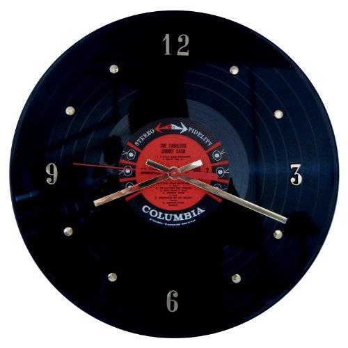 Johnny Cash Vinyl Record Clock Accessories Studio Live