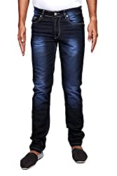John Wills Men's Slim Fit Jeans (MCR1035, Blue, 40)