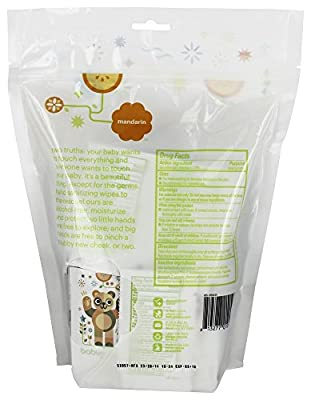 Babyganics Alcohol-Free Hand Sanitizing Wipes, Mandarin