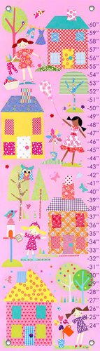 Oopsy Daisy Growth Charts Little Houses by Rachel Taylor, 12 by 42-Inch