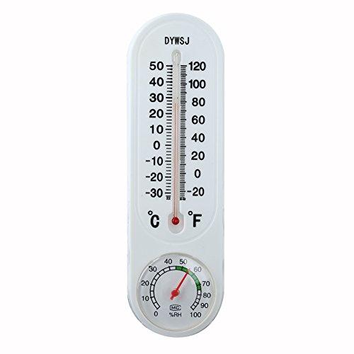 Weie-Kunststoff-Innen-oder-Auenthermometer-mit-Hygrometer-Feuchtigkeits-Test-Werkzeug