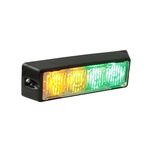 Lamphus Solarblast 4W Led Emergency Vehicle Deck Grille Strobe Warning Light Head ( Other Color Available ) - Amber Green