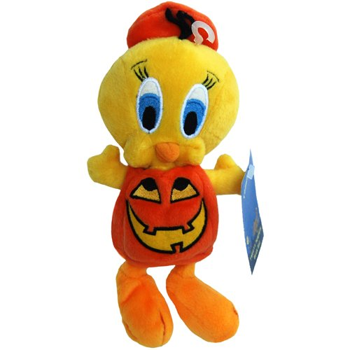 Tweety Halloween Jack-O-Lantern Pumpkin - Warner Bros Bean Bag Plush - 1