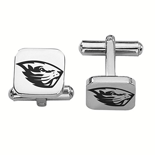 Oregon State Beavers Stainless Steel Square Cufflinks