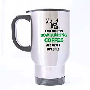 com | Funny Deer Hunting Mug - Fashion All I Care About is Bow Hunting