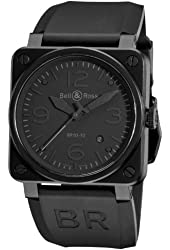 Bell & Ross Men's BR-03-92-PHANTOM Aviation Black Dial Watch Watch