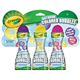 Crayola Outdoor Colored Bubbles-3 Pack Fuchsia Unmellow Yellow & Purple Pizzazz