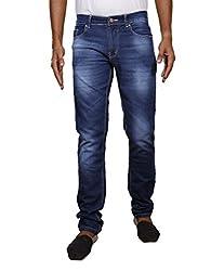 John Wills Men's Slim Fit Jeans (MCR1015--38, Blue, 38)