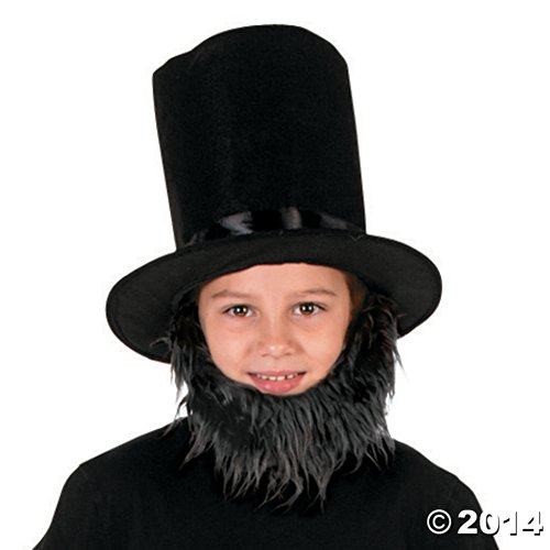 Child's Lincoln Costume Kit (1 Hat and 1 Beard) - 4th of July Independance Day