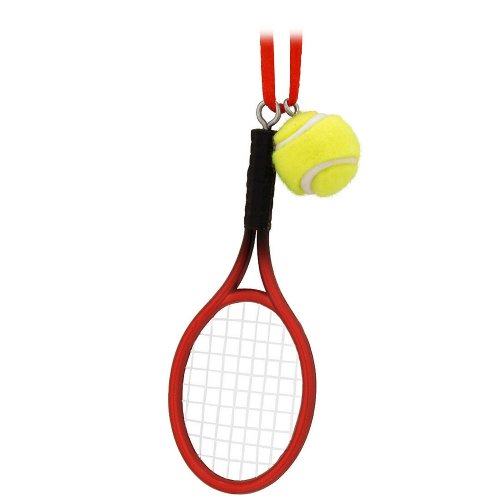 Tennis Racquet and Ball Ornament