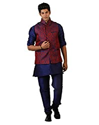 Amora Designer Lucknowi Ethnic Set of Koti (waist coat), kurta and Churidar)